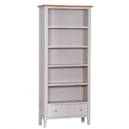 Newhaven Grey Painted Large Bookcase